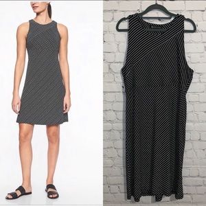 Athleta Santorini Sleeveless Dress XL Black White